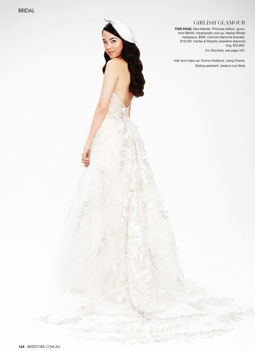 Princess Willow Gown in BRIDE TO BE magazine - July 2012