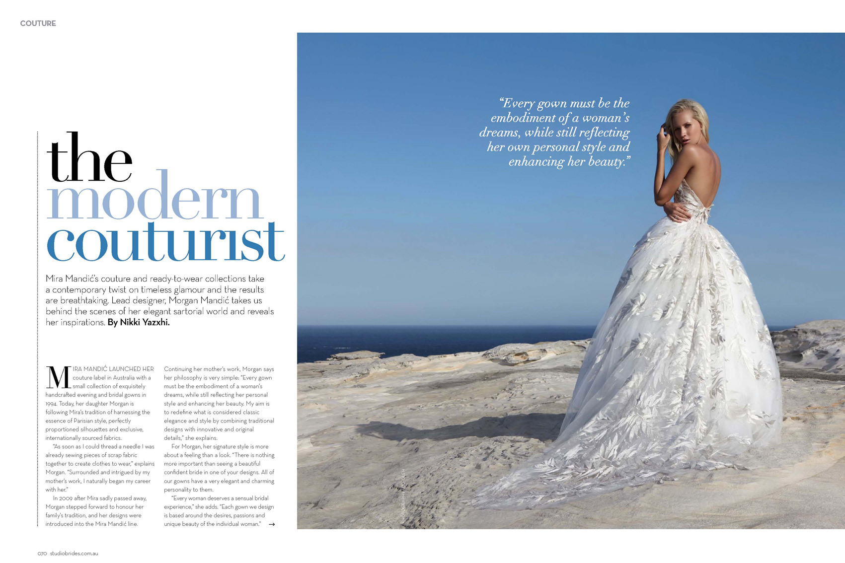 Editorial Designer Story in STUDIO BRIDES - Winter 2012