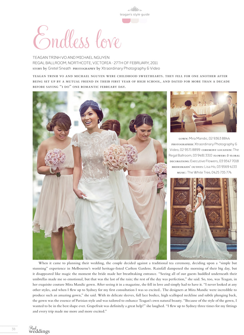 Teagan Vo in the Ivy Gown - REAL WEDDINGS 2012