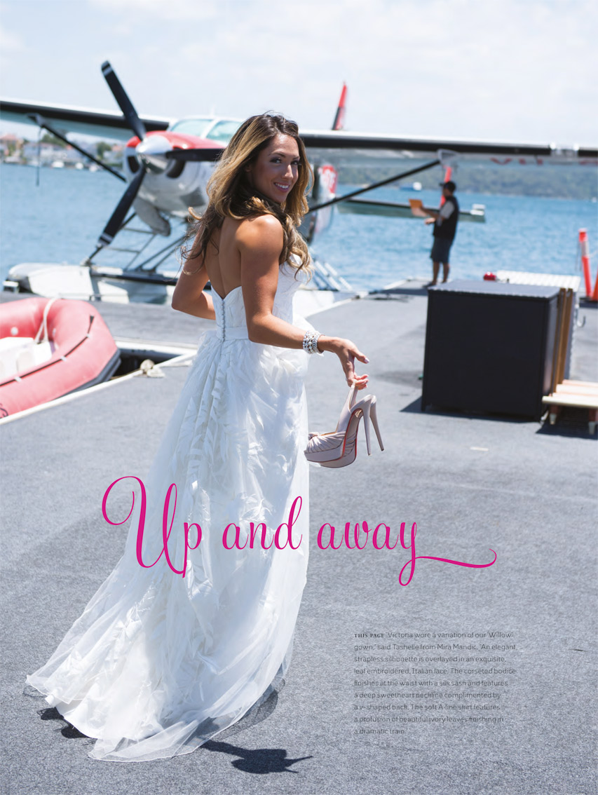 Victoria Montano in the Willow Gown -REAL WEDDINGS magazine 2012